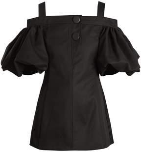 Ellery Bordeaux off-the-shoulder cotton top