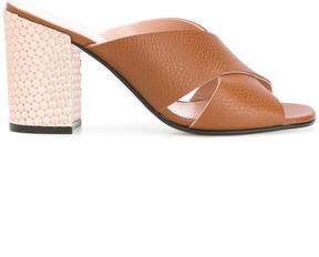 Pollini crossover strap sandals