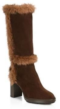 Aquatalia Imelda Shearling & Suede Tall Boots