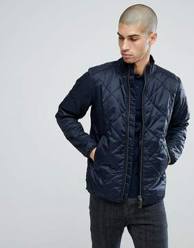 Barbour International Quilted Gabion Jacket in Navy