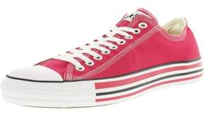 Converse Chuck Taylor Details Oxford Raspberry / White Ankle-High Canvas Fashion Sneaker - 12M 10M