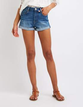 Charlotte Russe Refuge Hi-Rise Cheeky Denim Shorts