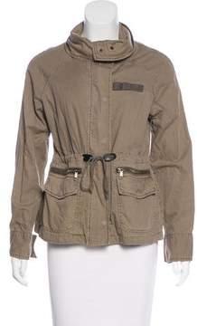 Barneys New York Barney's New York Woven Zip-Up Jacket