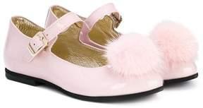 MonnaLisa pompom ballerinas