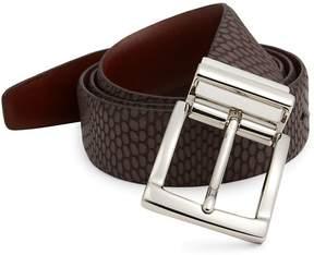 Saks Fifth Avenue Iguanna Embossed Leather Belt