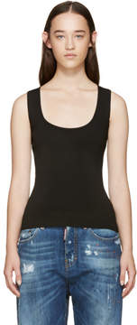 DSQUARED2 Black Stretch-Knit Tank Top
