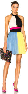 Fausto Puglisi Color Block Short Halter Top Tulle Dress