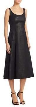 Akris Punto Metallic A-Line Dress