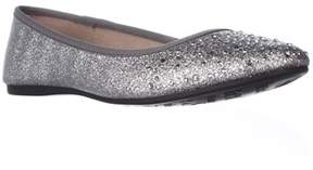 Style&Co. Sc35 Angelynn Rhinestone Sparkle Ballet Flats, Pewter.
