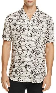 Sovereign Code Graham Geo Print Regular Fit Button-Down Shirt