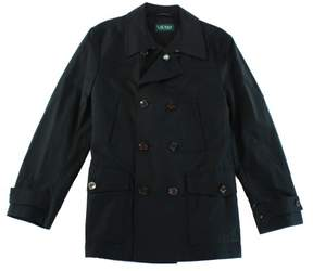 Lauren Ralph Lauren Men's Double-Breasted Raincoat (42S, Black)