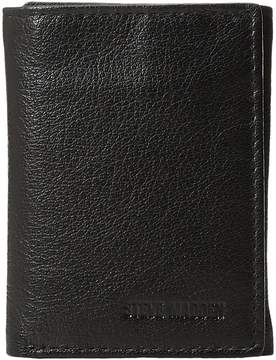 Steve Madden Smooth Leather RFID Blocking Trifold Wallet Wallet Handbags