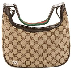 Gucci GG Monogram Canvas Web Hobo Bag - BROWN - STYLE