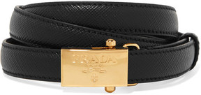 Prada - Textured-leather Belt - Black
