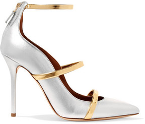Malone Souliers Robyn Metallic Leather Pumps - Gold