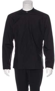Isabel Benenato Woven Button-Up Shirt