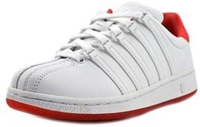 K-Swiss Classic Vn Women Round Toe Leather White Tennis Shoe.