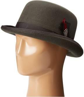 Scala Wool Felt Derby Hat with Grosgrain Trim Caps