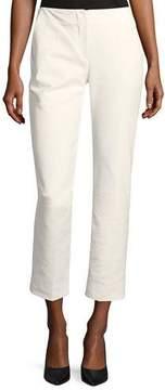 Emporio Armani Straight-Leg Cropped Cotton-Blend Pants