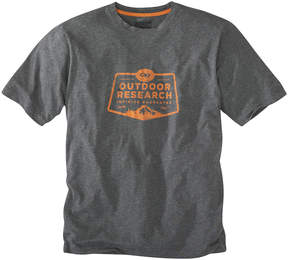 Outdoor Research Charcoal Heather Bowser Organic Cotton Tee - Men