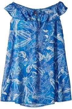 Maaji Kids Blue Cat Fish Short Dress Cover-Up Girl's Swimwear
