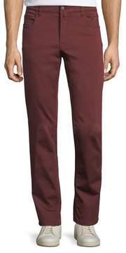 Neiman Marcus Stretch-Cotton Five-Pocket Pants