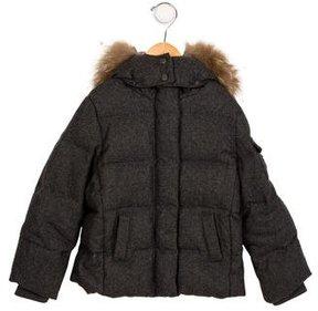 Bonpoint Boys' Hooded Down Coat