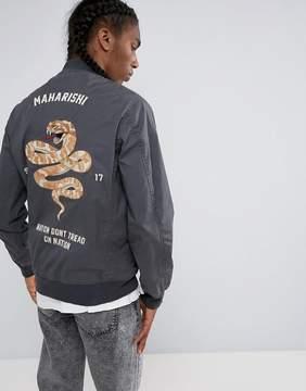 MHI Embroidered Snake Tour Bomber Jacket