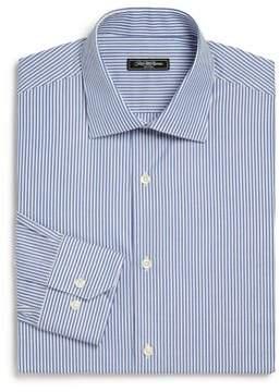 Saks Fifth Avenue COLLECTION Trim-Fit Striped Cotton Dress Shirt