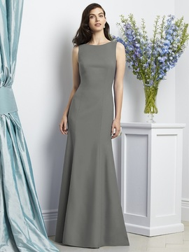 Dessy Collection 2936 Dress in Charcoal Gray