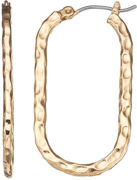 Dana Buchman Textured U-Hoop Earrings