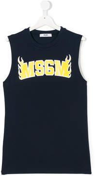 MSGM Teen logo tank top