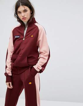 Ellesse Tracksuit Top With Contrast Sleeves And Sports Stripe