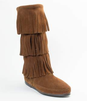 Minnetonka Women s Calf Hi 3-Layer Fringe Boots