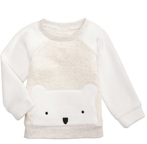 First Impressions Bear Sweatshirt with Faux-Fur Trim, Baby Boys (0-24 months), Created for Macy's