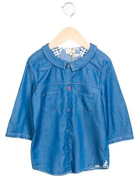 Paul Smith Girls' Collared Chambray Dress w/ Tags