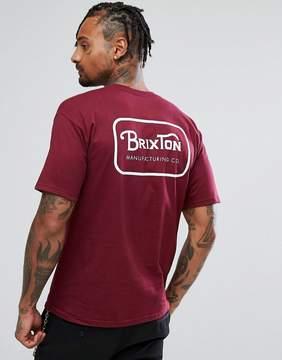 Brixton Grade T-Shirt With Back Print