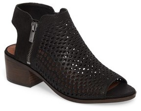 Lucky Brand Women's Nelwyna Perforated Bootie Sandal