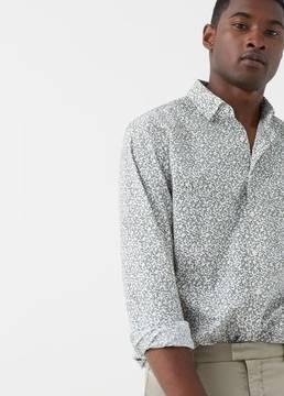 Mango Outlet Slim-fit flower print shirt