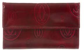 Cartier Patent Leather Embossed Wallet