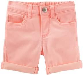 Osh Kosh Oshkosh Bgosh Toddler Girl Cuffed Bermuda Shorts