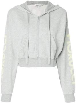 Fiorucci cropped zip front hoodie