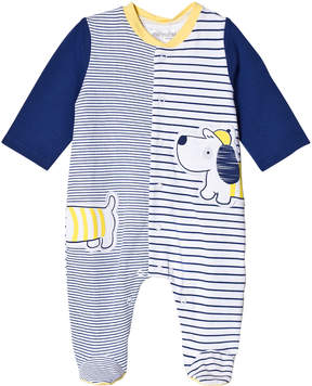 Mayoral Navy Stripe and Dog Applique Babygrow