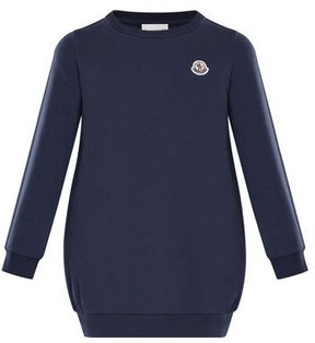 Moncler Terry Long-Sleeve Sweater Dress, Size 8-14