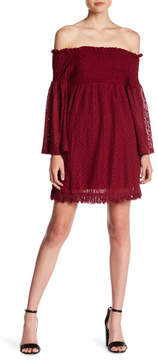 Flying Tomato Crochet Lace Off-the-Shoulder Dress