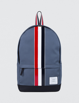 Thom Browne Mackintosh Backpack with RWB Leather Stripe