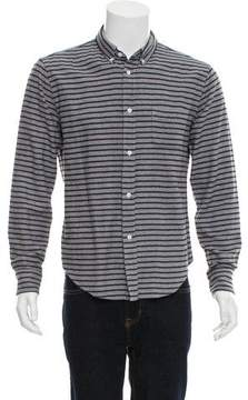 Band Of Outsiders Striped Flannel Button-Up Shirt