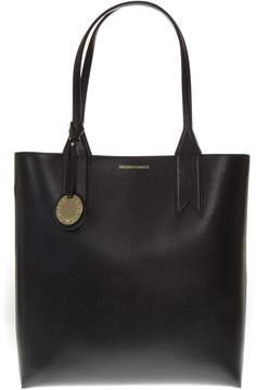 Emporio Armani Black Smooth Faux Leather Bag