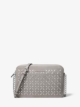 MICHAEL Michael Kors Jet Set Large Embellished Leather Crossbody
