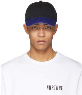 Acne Studios Black and Blue Carliy Face Cap